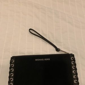 Michael Kors clutch bag, black suede.